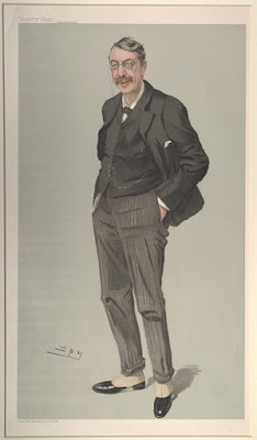 Caricature of Stanford by Spy, Vanity Fair, 1905
