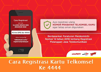 Cara Registrasi Kartu Telkomsel Ke 4444