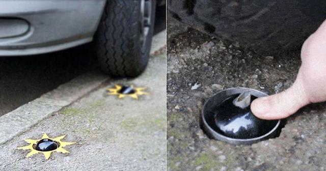 Νέα εφεύρεση θα τρυπάει τα λάστιχα όσων παρκάρουν πάνω στα πεζοδρόμια