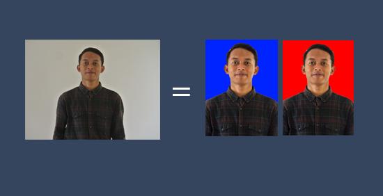 Cara Merubah Backround Foto menjadi warna merah atau biru
