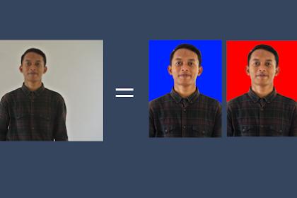 Cara Mengganti Background foto menjadi Merah atau Biru, Mudah Banget