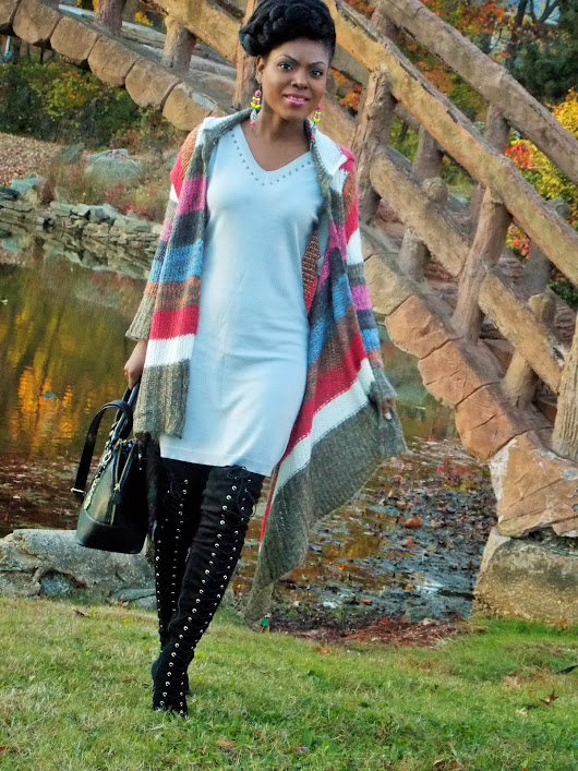 Bringing Life to a Grey Sweater Dress!