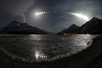 Lunar Eclipse over Waterton Lakes National Park