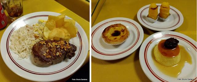 Filé à Oswaldo Aranha e sobremesas do Cervantes, Rio de Janeiro