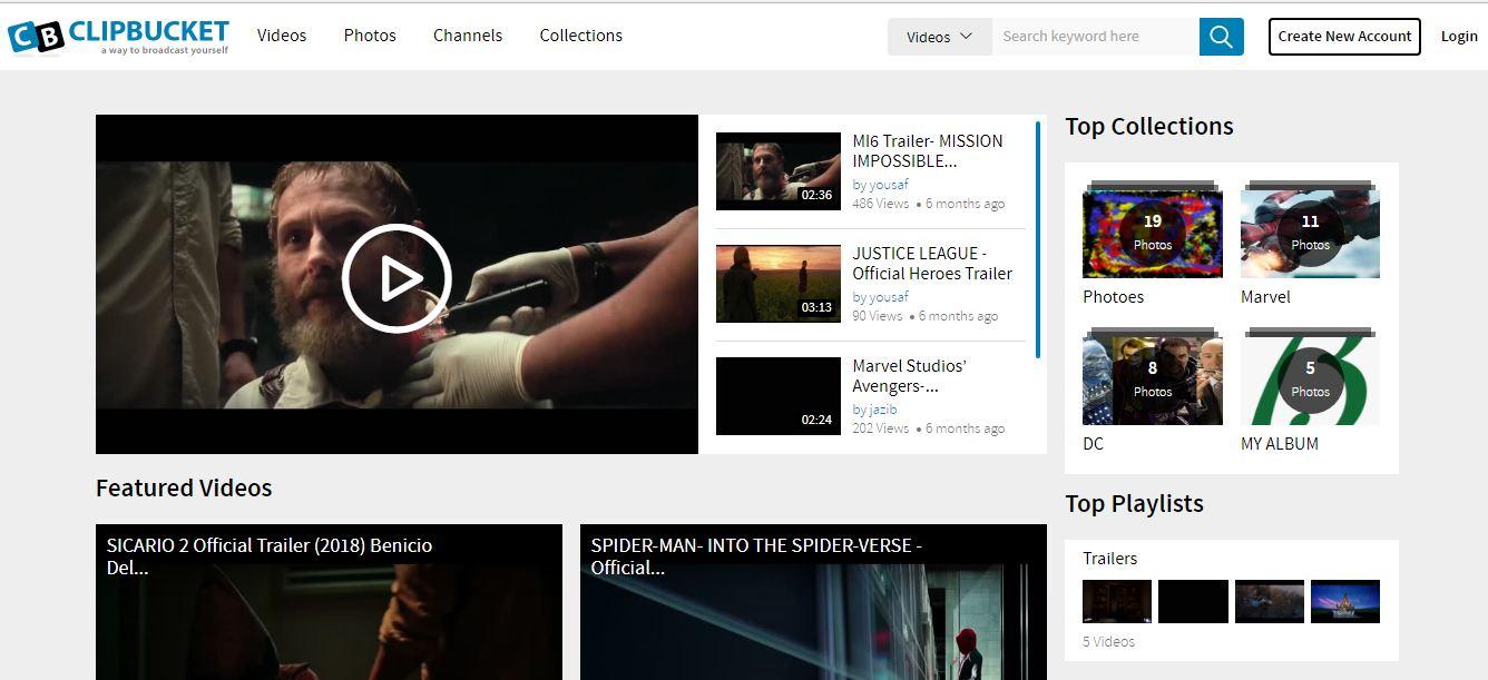 Free Clickbucket Video Sharing Script