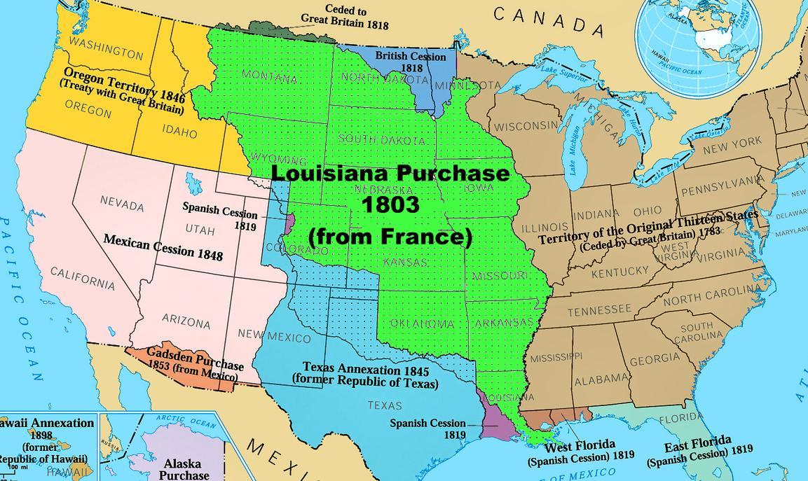 Louisiana Purchase Savages Scoundrels Powerschool Learning Us Map 1819