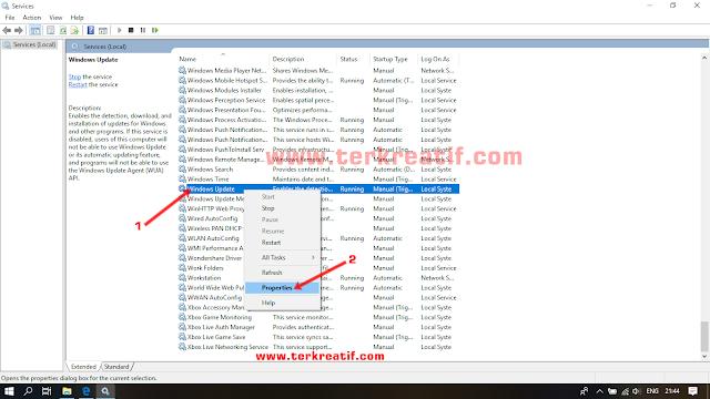 cara mematikan update otomatis windows 10 terbaru