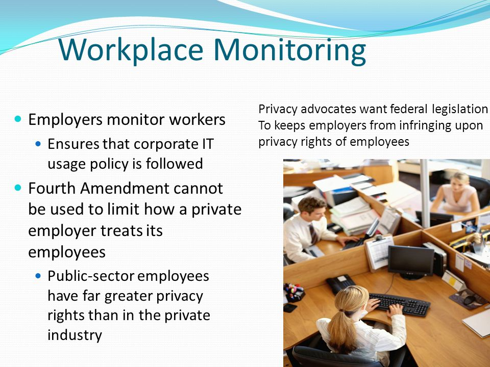 employee privacy essay Employee privacy: federal, state, and local laws provide a basic source of protection against invasion of privacy by private parties, including employers.
