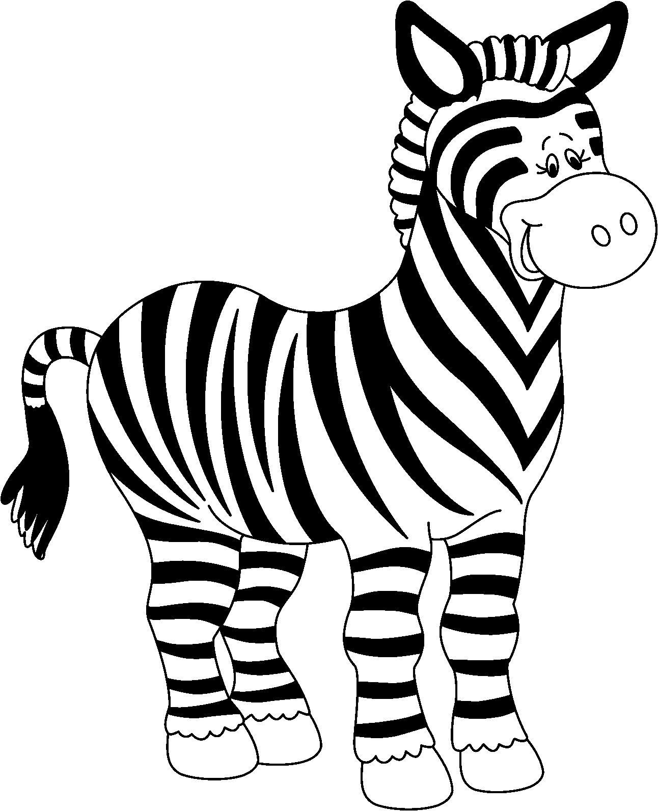 La chachipedia dibujos de cebras para colorear - Coloriage zebre ...