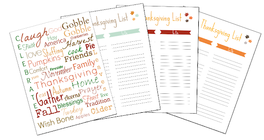 Thanksgiving Prep and Printables