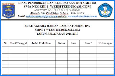 File Pendidikan Buku Agenda Harian Laboratorium IPA Tahun 2018