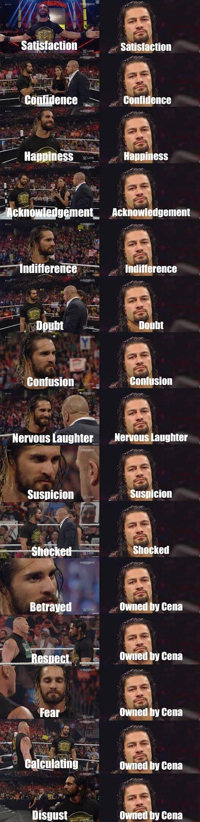 Roman Reigns vs Seth Rollins charisma