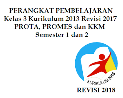 Prota, Promes dan KKM SD/MI Kelas 3 K13 Revisi 2017 Semester 1 dan 2
