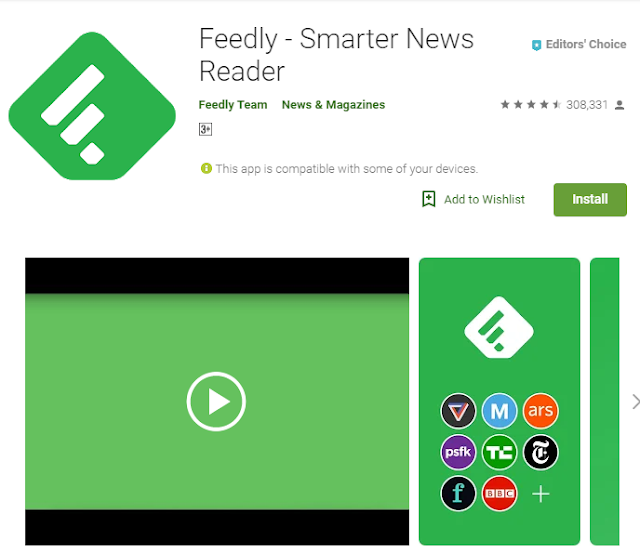 Feedly display