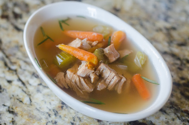 Turkey Soup, Instant Pot soup, pressure cooker soup