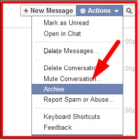 how can i pull my deleted messages up on facebook