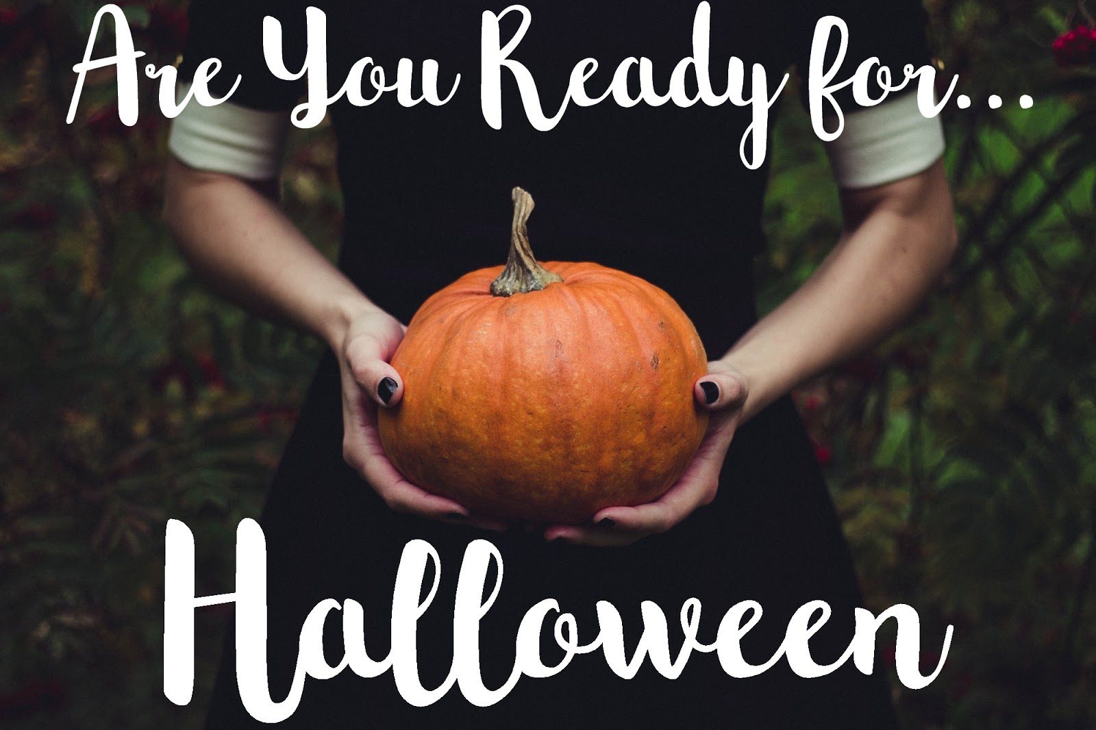 pumpkin + are you ready for halloween + makeup tuto