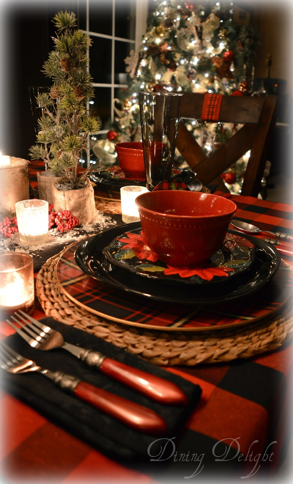 Dining delight canadian lodge inspired christmas tablescape