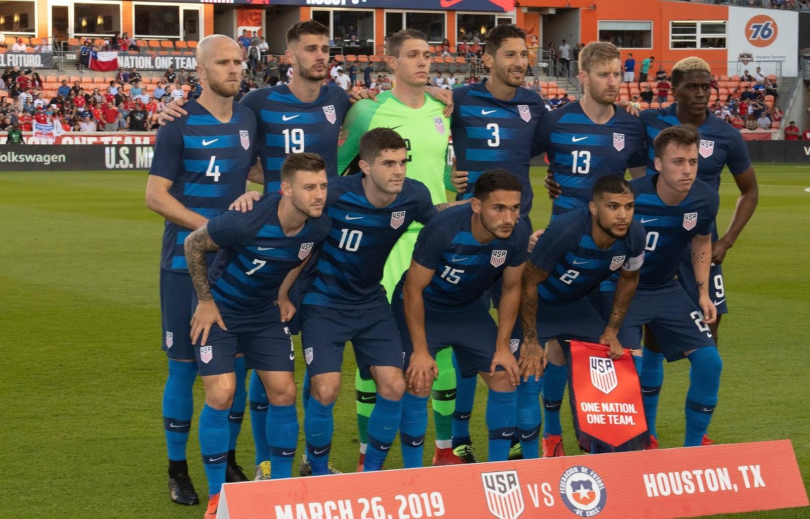 Formación de Estados Unidos ante Chile, amistoso disputado el 26 de marzo de 2019