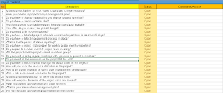Project Control Checklist