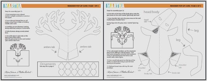 Papermau Christmas Time Reindeer Pop Up Card By Sabuda Reinhart Via Martha Stewart