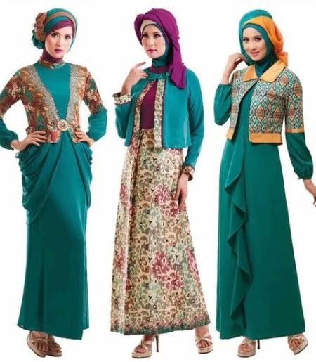 Contoh Model Baju Gamis Muslim 2015