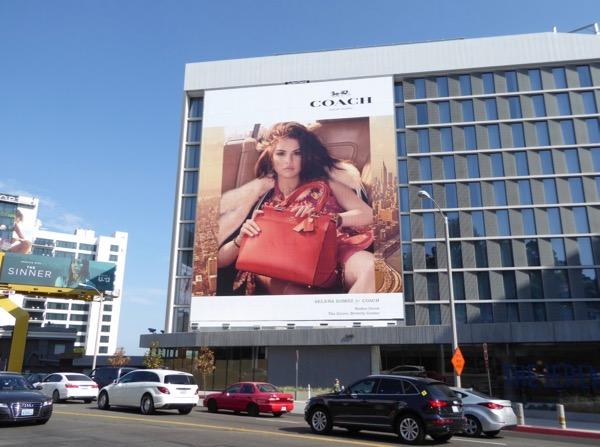 Selena Gomez Coach FW17 billboard