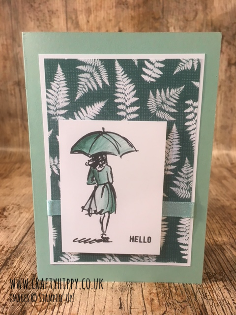 This picture shows a Mint Macaron and Tranquil Tide handmade card created using the Beautiful You stamp set by Stampin' Up! made by Crafty Hippy UK Stampin' Up! Demonstrator