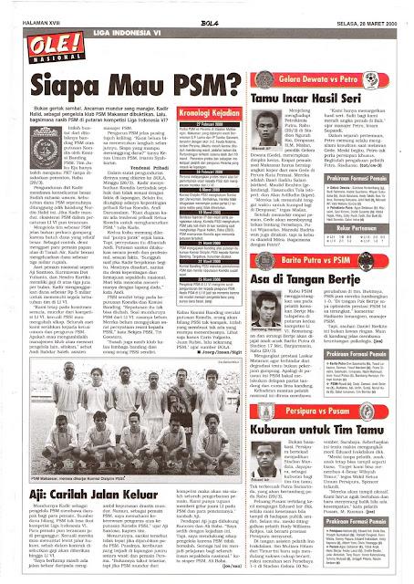 LIGA INDONESIA VI: SIAPA MAU PSM