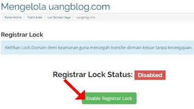 Enable Registrar Lock