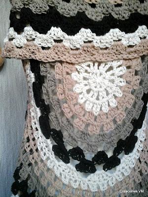 Chaleco tejido a crochet. Creaciones VM, Mar del Plata.