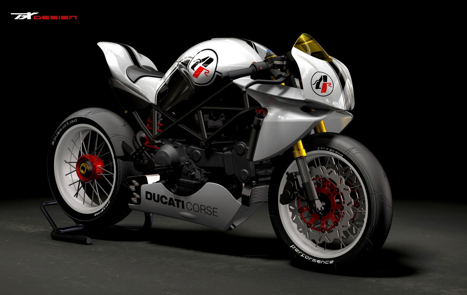 motogp ducati caf racer bodykit by paolo tesio. Black Bedroom Furniture Sets. Home Design Ideas