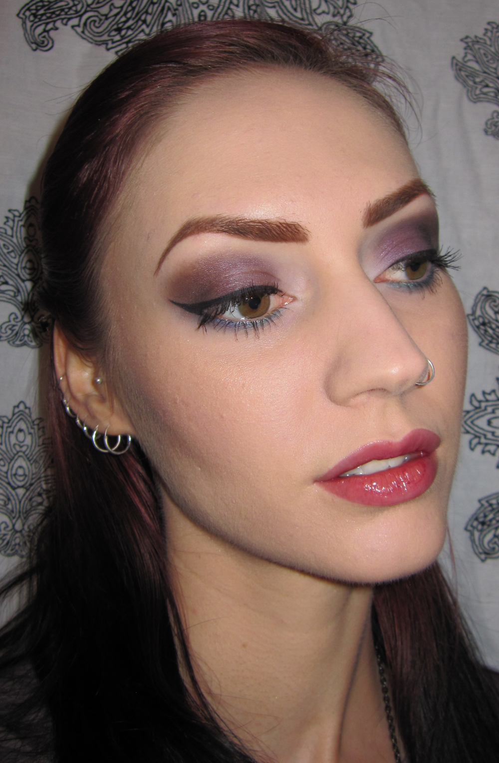Glitter Is My Crack Plum And Blue Makeup Look With