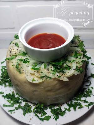 ханум с фаршем и картошкой
