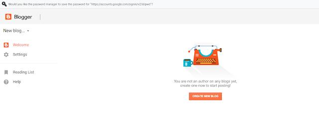 Create Free new blog using Google blogspot
