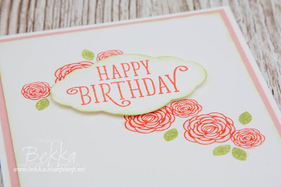 Fast and Fabulous Birthday Card featuring the Happy Birthday Gorgeous Stamp Set from Stampin' Up! UK