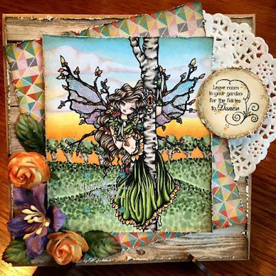 Hannah Lynn 'Tree of Secrets' kit and clowder sunset background