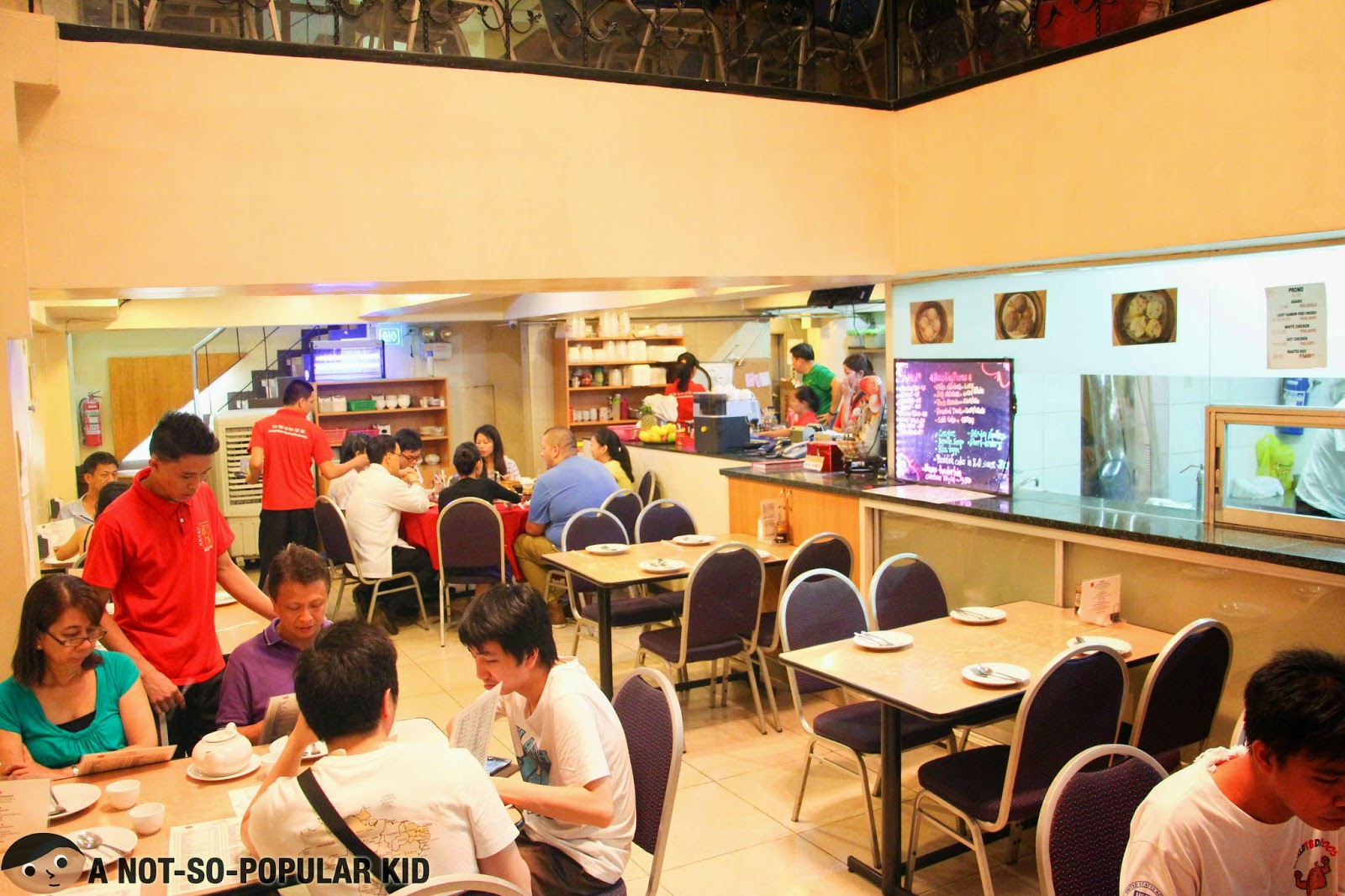 The interior of Lucky Rainbow Restaurant - Binondo Branch