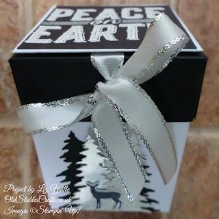 Carols of Christmas Black and White Lidded Box