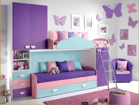 decorar dormitorio con mariposas, habitación con mariposas