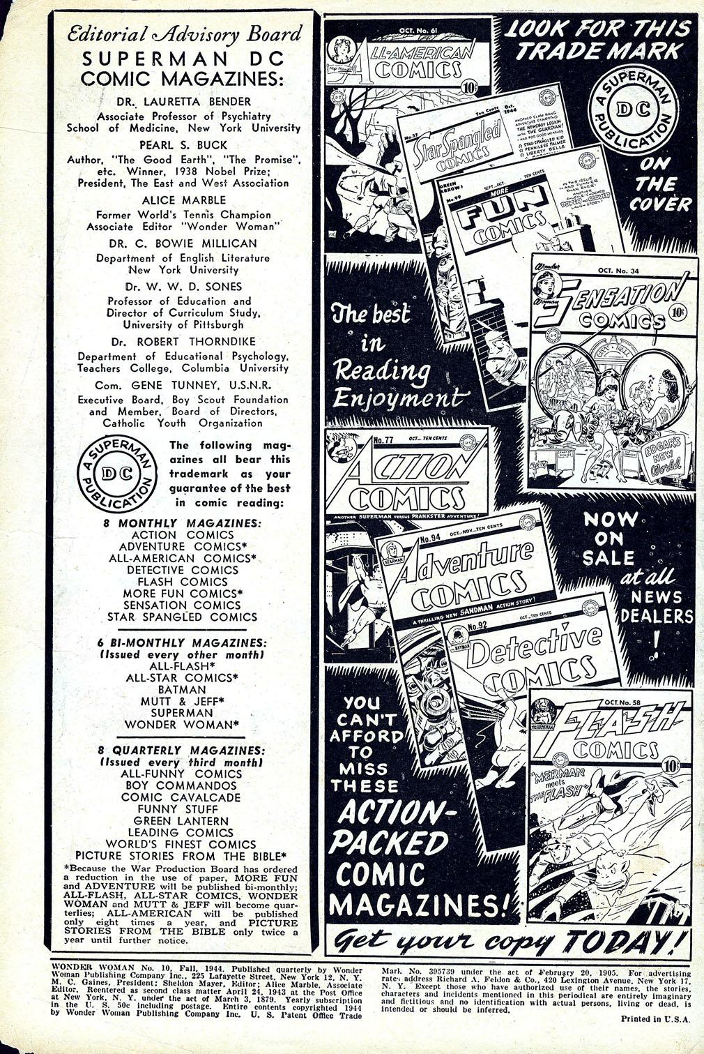 Read online Wonder Woman (1942) comic -  Issue #10 - 2