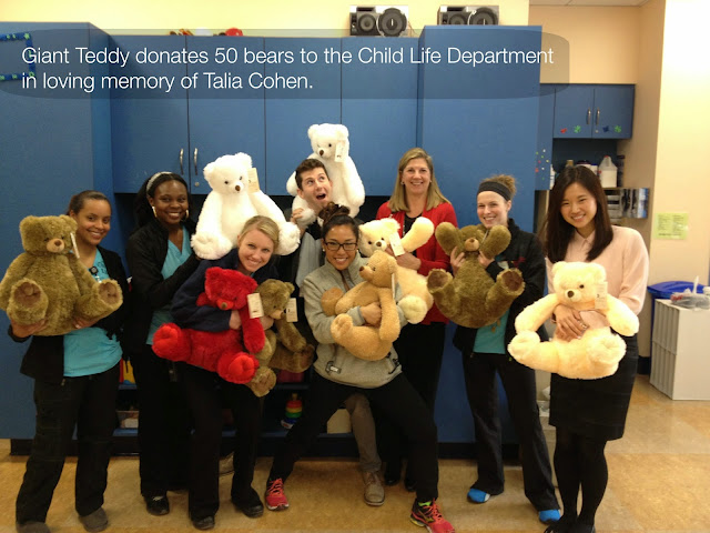 Some Giant Teddy bears making hospital staff smile
