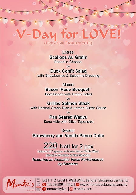 Valentine S Day Promotion Monte S Malaysian Foodie