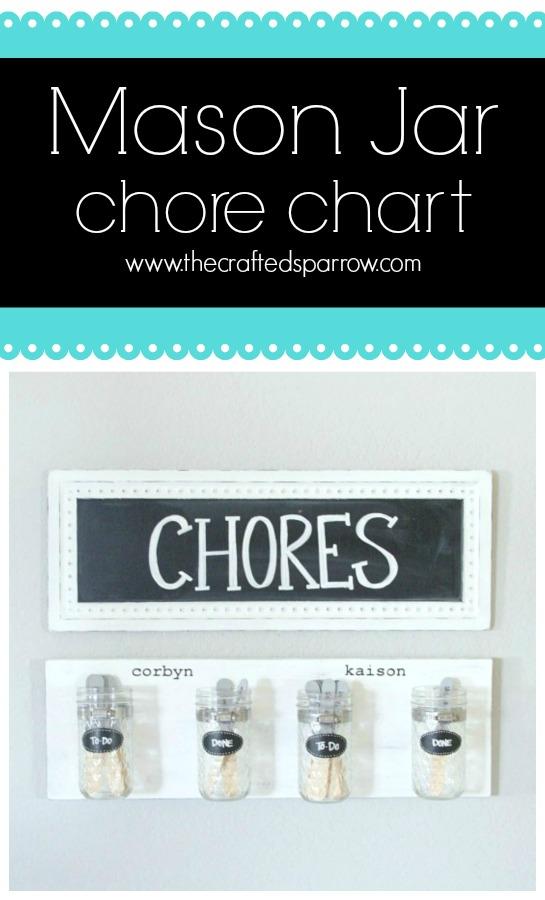 Mason Jar Chore Chart The Crafted Sparrow