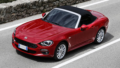 2017 FIAT 124 Spider Red color view hd pics