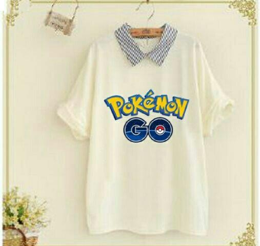 Jual Blouse Blouse Pokemon Go Kerah Kotak - 12723
