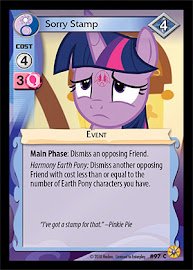 MLP Sorry Stamp Friends Forever CCG Card