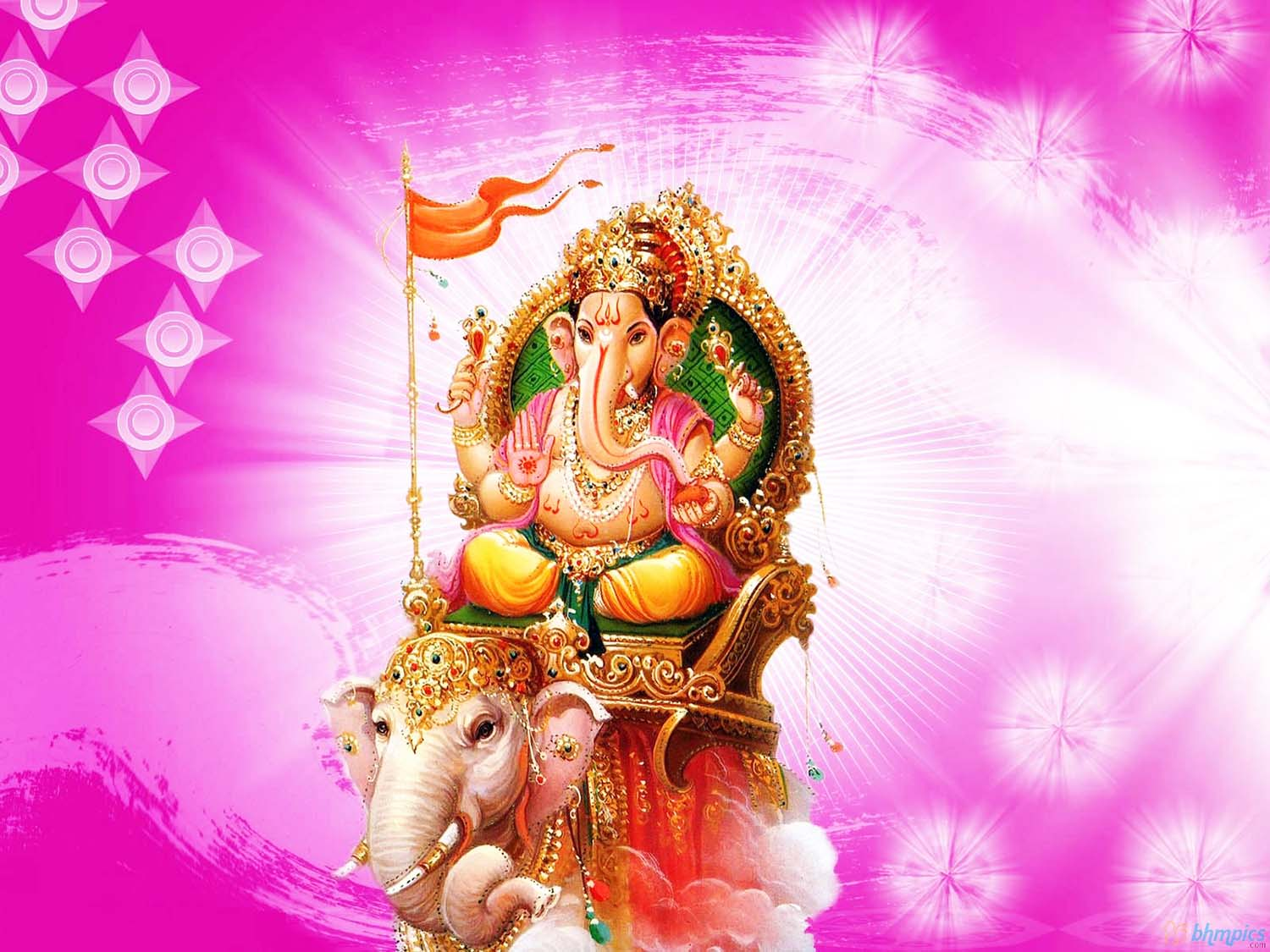 Lord Vinayaka wallpaper riding an elephant!
