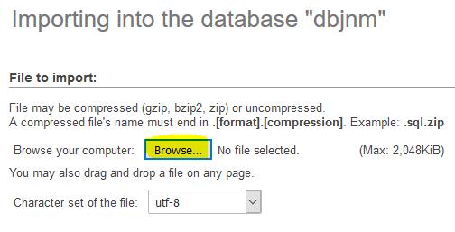 Cara Backup, Export, Import Database MySQL