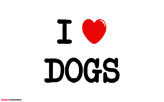 Afbeelding I love dogs